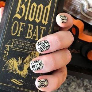 2/$20 color street nails bonehead halloween glow